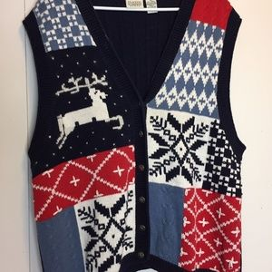 Vintage Classic Elements Ugly Christmas Sweater